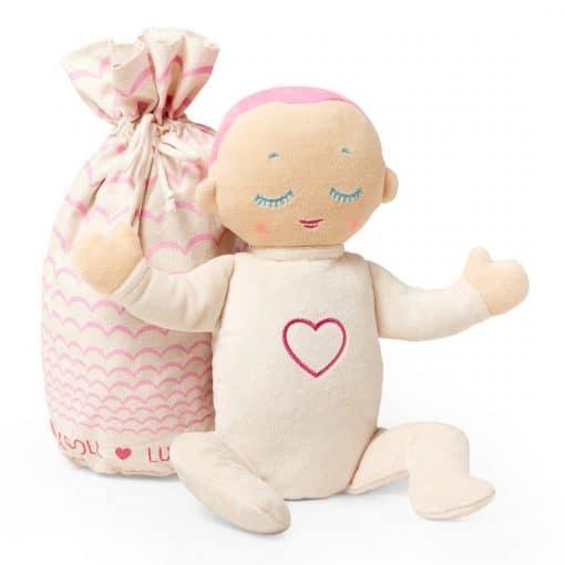 Lulla doll Coral is een Knuffel met hartslag om beter te kunnen slapen.