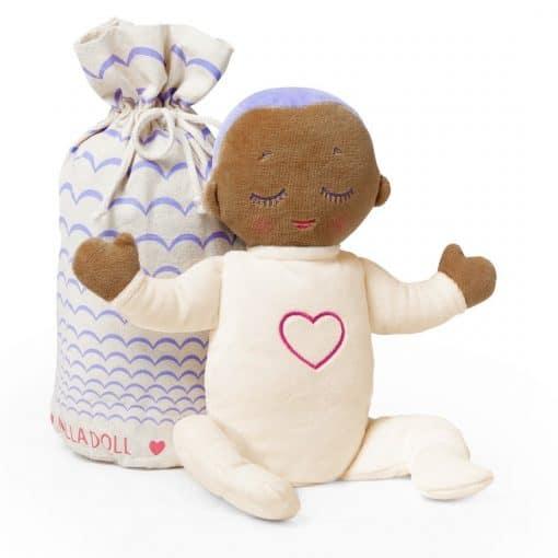 Lulla doll Lilac is een Knuffel met hartslag om beter te kunnen slapen.